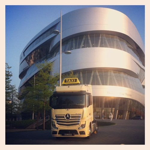 #taxi anybody? #sftp #actros #mercedesbenz #merzedes #fun #stuttgart #daimler #museum #cool #germany #cab #transportation