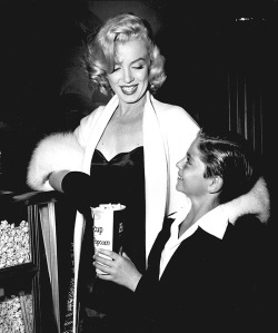 Marilyn at the premiere of The 5000 Fingers Of Dr. T with Tommy Rettig.