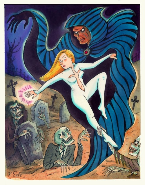 Cloak & Dagger vs. zombies by Richard Sala, whose Delphine is out now.