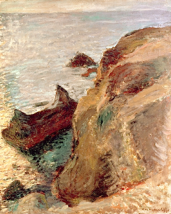 bofransson:  Rocks and the Sea, 1897, Matisse, Henri (1869-1954)