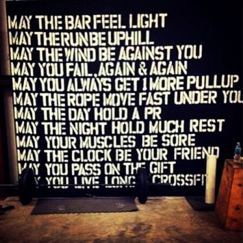 To my fellow crossfitters!!