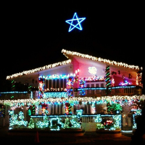 "So yesterday.. me and my friends went to this so called ""House of Lights"" I mean.. Gosh.. This house had so many lights on that i felt bad for the neighbors xD hahahaha Welp.. It was really beautiful tho."