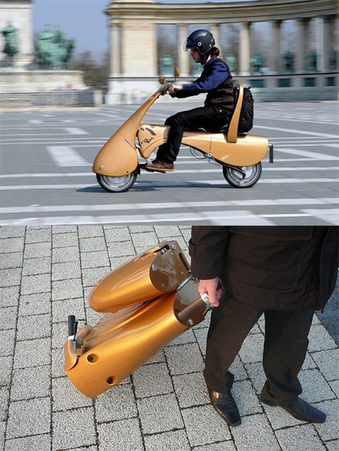 Moveo Folding Electric Scooter.