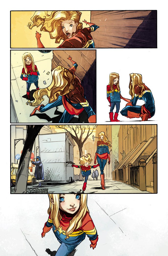 "tmlfblog:  An adorable page from ""Captain Marvel"" No. 10."