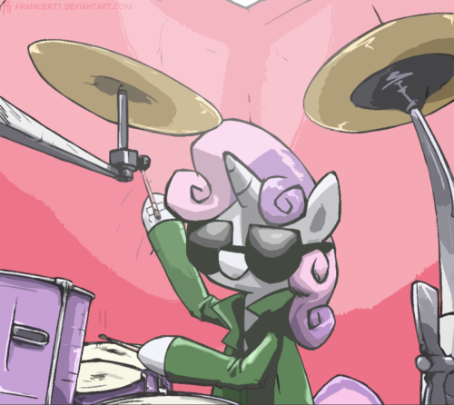 Sweetie Belle plays Drums (dA link) Requested by AskLyra
