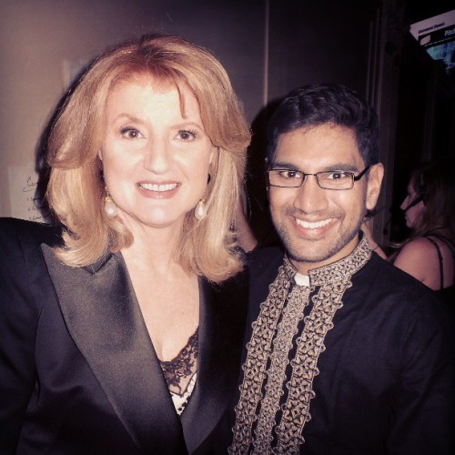 Backstage with Arianna Huffington - the woman who asked me to write for The Huffington Post (at Cipriani)
