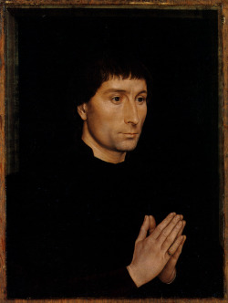 "Tommaso di Folco Portinari ~Hans Memling  c. 1470 Oil on wood 44.1 x 33.7 cm Metropolitan Museum of Art , New York, New York, United States     The naturalism of Northern Renaissance portraits stunned Italian artists, who are said to have remarked that these paintings had ""everything but actual breathing."""