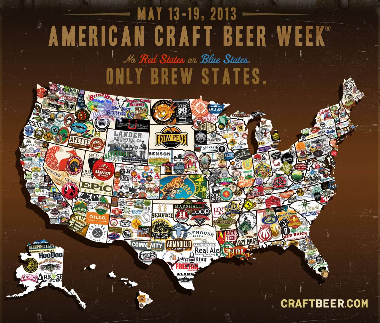 mapsontheweb:  Craft Beer Map of The U.S.