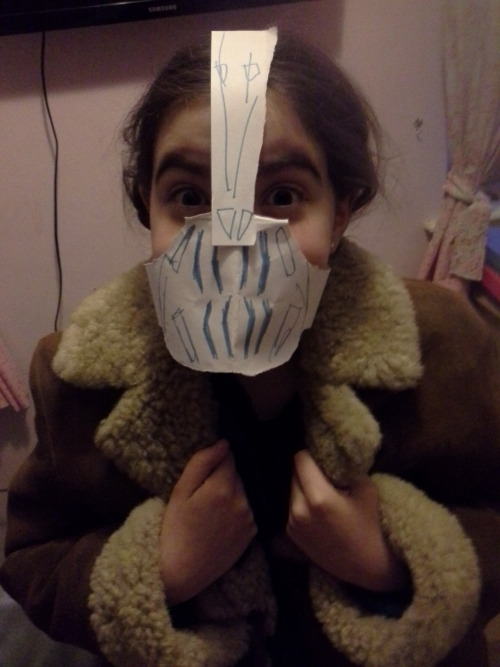 My sister decided today she would be bane.