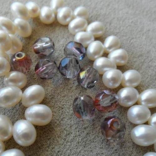 I bought myself a string of real pearls and some pretty beads to add to a future knit project. #pearls #beads #crafty #pretty