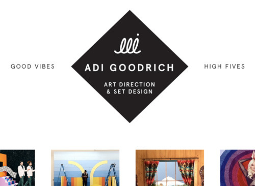 The branding I did for good pal Adi Goodrich went live the other day. What a talented young lady, right? Holy cow. A little inside scoop, the squiggly line with the dot above it is her signature. So yeah, she made it pretty easy.