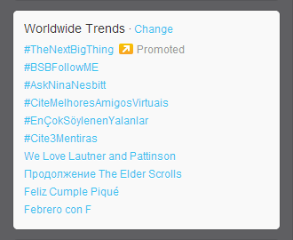 """We Love Lautner and Pattinson"" is trending worldwide on Twitter today."