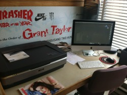 Got the new work station all situated. How the fuck I ended up with Grant Taylor's check is beyond me