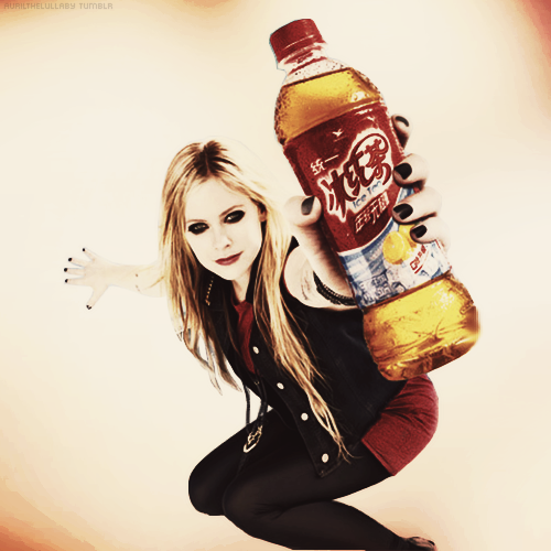 avrilthelullaby:  Avril for Ice Tea Campaign.