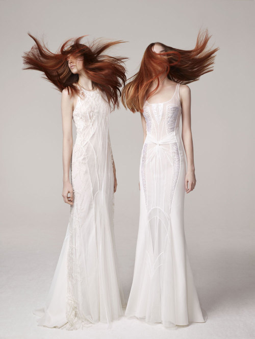 Agata Rudko and Gwen Loos for Basil Soda Haute Couture S/S 2013.