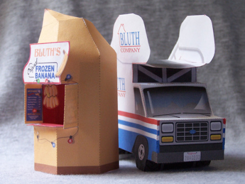 gnatkip:  Arrested Development papercraft: Banana Stand and Stair Car (+ printable patterns)