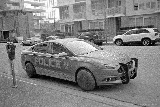 The New Look Vancouver Police Department on Flickr.Via Flickr: Stylish new cruisers for the VPD, along with their new mission statement: 'To Protect & Serve Man' were out in full force this weekend.  * *Actually, prop cars. I think for the new JJ Abrams pilot 'Human', currently shooting in town.
