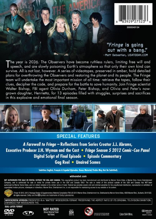kc2oo9:  elialys:   FRINGE SEASON FIVE DVDS - LIST OF SPECIAL FEATURES. (X)  #DIGITAL SCRIPT?!?! EPISODE COMMENTARY?! #UNAIRED SCENES #THIS MIGHT ACTUALLY MAKE UP FOR THE CRAP THAT WAS THE S4 DVDS I AM CRYING  UNAIRED SCENES??!!! I NEED THIS IN MY LIFE NOW.  I NEED THIS NOW.