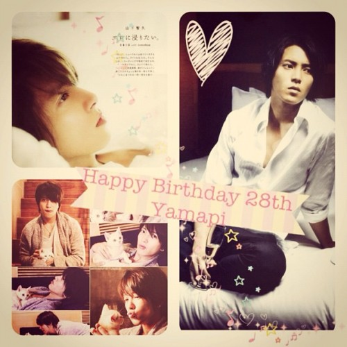 Happy Birthday 28th my dearest Yamashita Tomohisa Yamapi !! Love Love Love ❤❤❤ #yamapi #yamashitatomohisa #boy #handsome #jpop #je #news #birthday #present