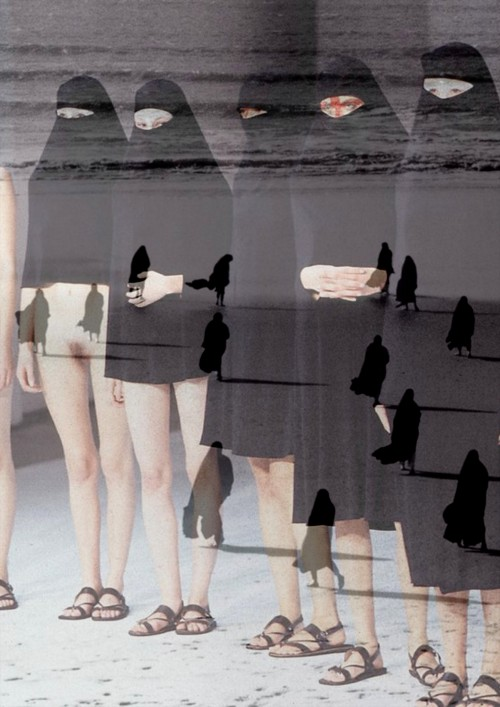dyaphanum:  ACHIEVEMENT Between, Hussein Chalayan Spring 1998  X  Rapture, Shirin Neshat, 1999.