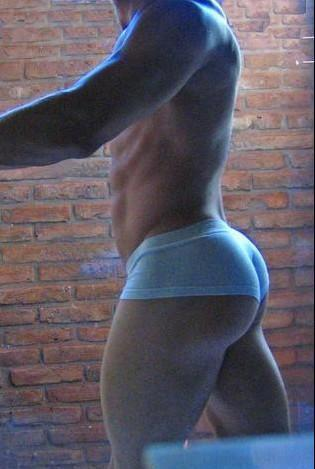 muscleaddict:  Wish You Were Here.   I wish I had an ass like that. All the cock I'd get because of it!