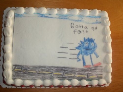 Very Detailed Gotta Go Fast Sonic the Hedgehog Cake Graphics haven't looked that good since the Dreamcast.