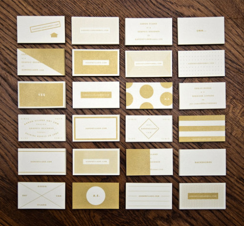 (via Design Work Life » Aaron Eiland Business Cards)