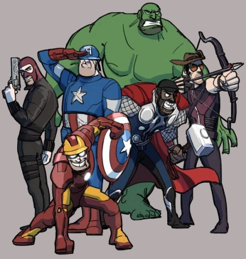 dorkly:  The Team Fortress 2 Avengers HEAVY SMASH!