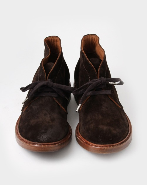 #10 - Buttero Round Toe Brown Suede Chukka Boots