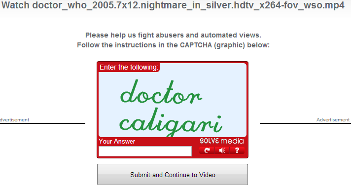 Guys.. the Great and All-knowing Captcha has revealed unto us The Doctor's name!! A week early !  Still excited about next week though!