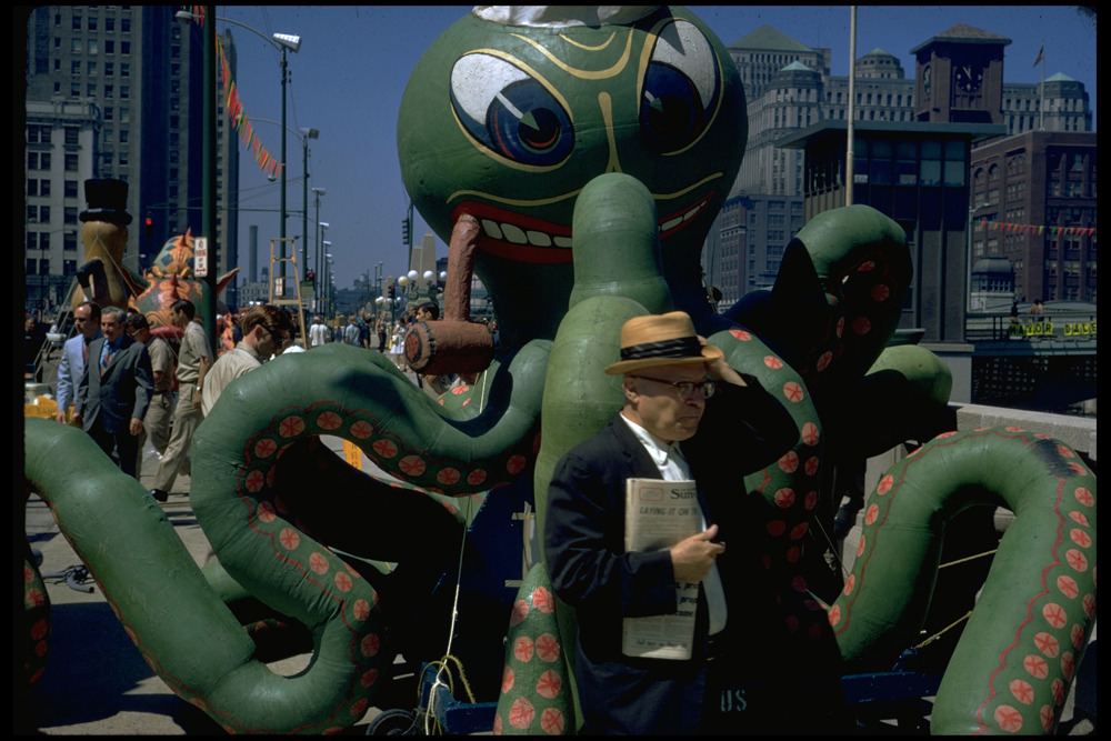 calumet412:  Octopus on Wacker, 1967, Chicago. Tom Palazzolo