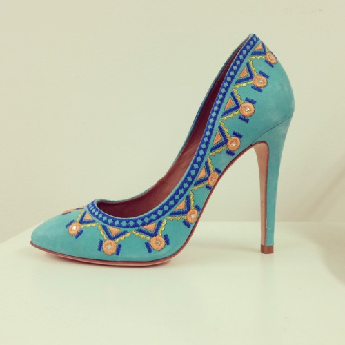 Teal suede tribal fiesta preview of Summer 13' #Shavonne