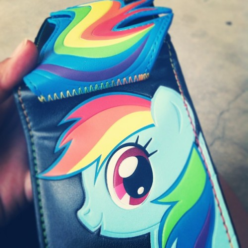 I love my new wallet :3 #wallet #rainbow #rainbowdash #mylittlepony #pony #gay #lesbian #happydesu #dash #hottopic