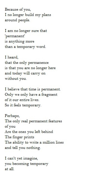 Temporary Permanence