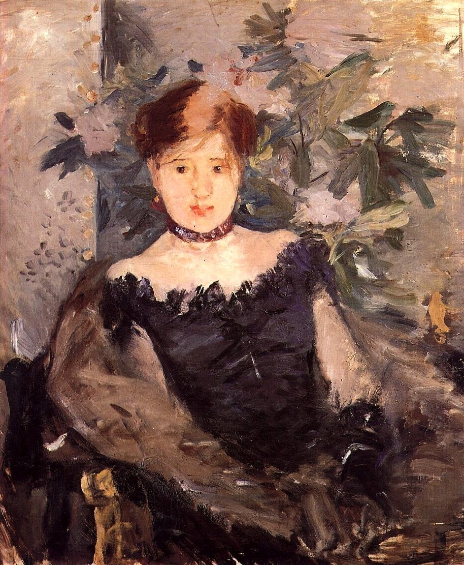 bofransson:  Woman in Black Berthe Morisot - 1878