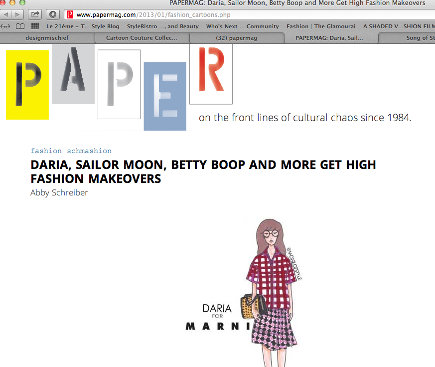 Thanks for the love Paper Mag!!