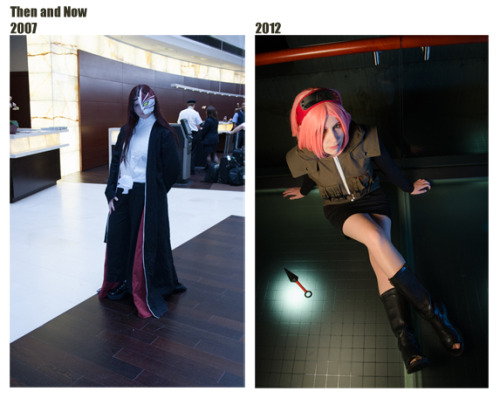 "Then and now…  Someone on the cosplay.com forums had a thread about photographer's past and present cosplay photos to show how we've progressed. Here's my contribution. Sometimes I'm my own worst critic and think I suck… but this helps to see that I have improved, and now I can't wait to see how my photos from 2018 compare to 2012! So no matter it be cosplay, photography, school, jobs or whatnot… as the great Kamina once said… ""Don't forget. Believe in yourself. Not in the you who believes in me. Not the me who believes in you. Believe in the you who believes in yourself."" I look forward to seeing how better we are in 2013. ^^"