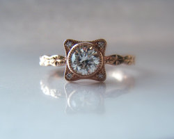 Rose Gold Diamond Ring ~ La