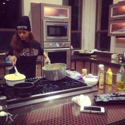 rihanna cooking