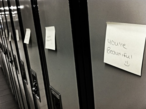 raaychii:  on every single locker at school omg