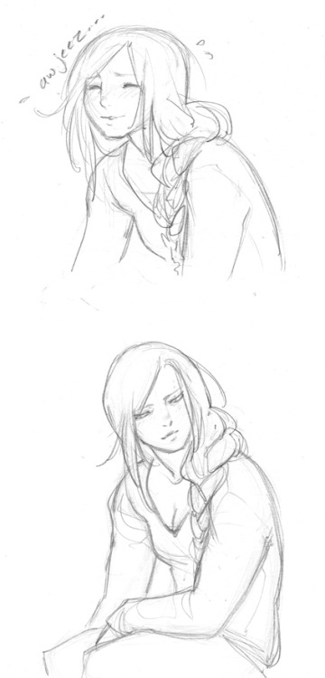 More doodles of Allison. Top one because some of you left some nice comments on that initial doodle and she is very flattered 8P Doodled after work yesterday, just trying to get a feel for her. I love her already.