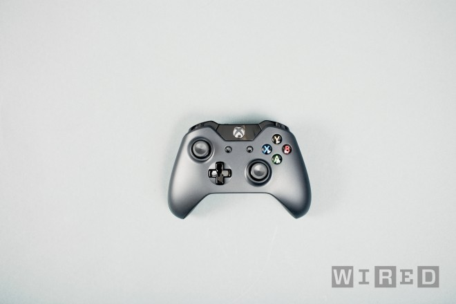 So the next iteration of the Xbox was finally revealed and Microsoft is calling their new system the Xbox One. From what I gather the name implies the box will be and all-in-one type of system or if you prefer the one box to rule them all. Nerd. Anyway, the system seems powerful enough but Microsoft didn't really want to waste to much time getting into that. It will have 8 GBs of RAM which is important for porting games to and from the Playstation 3 and as we all predicted will come with a Blu Ray player. Thank goodness.  A few games were revealed with the most exciting of the bunch being Remedy's Quantum Break. If you know Remedy you know they are masterful story tellers and with the type of action that was revealed this will be one to watch. Besides Quantum Break, Microsoft revealed that they will release no less than 15 games in the first year of the Xbox One, eight of which will be new IPs. Which leads me to wonder if Microsoft actually has seven games they can make sequels for.  The Xbox One will be able to edit and share gameplay footage but Microsoft didn't spend too much time on that either, what they did take a lot of time to talk about was their multimedia functions. Being able to watch live TV is very cool and being able to see your fantasy league updates in realtime is even cooler. The Xbox One will be able to multitask in a similar way that Windows 8 can. Snapping a second windows to the left of your main window will allow you to search Bing, pull up stats for the game you are watching, and in theory do almost anything the system can do. The system seems fast. The new Kinect has been upgraded to probably what Microsoft originally envisioned and responsiveness was very impressive. Switching from live TV, to gameplay, to Internet Explorer was buttery smooth. Last time I ever use buttery smooth to describe something I promise. In typical Microsoft fashion, the reveal was heavily geared towards the casual market, so we only saw a few games, Forza 5, Madden, UFC, and Call of Duty Ghosts among them.  I need to sit on all the info for a bit before I give my full impressions but I'll say I'm happy about what I saw if not a bit unsurprised. Oh one more thing, the new controller looks pretty good, they fixed the D-pad which is great but the handles seem to my eyes a big wider apart. Odd. Thank you Wired for the image.