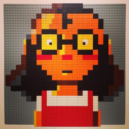 "From Hilary Leung at ninjacowboybear:  #Lego #PictureBooks Book #35 ""Oh No!: Or How My Science Project Destroyed the World"" by @MacBarnett & @DSantat A fantastic story about a young girl who wins 1st place at the science fair. Unfortunately her giant robot starts to rampage! Did I mention that the robot also has a superclaw, laser eye and the power to control dogs' minds? Well, after many failed attempts to stop the ear-less, illiterate robot that can't feel pain, our hero hatches a new plan. This naturally involved creating a giant attack toad to combat the giant robot… Barnett's highly imaginative story is too much fun! And Santat's awesome artwork is chock full of so many delicious details like the brilliant frog montage and robot blue print end papers to name just two… TWO GIANT THUMBS UP!!"