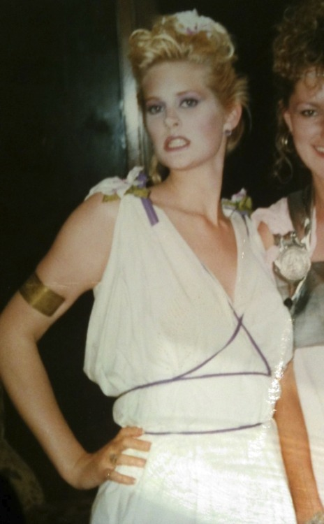 Throwback Thursday… Still proud of my self-draped toga design, but the Dina Lohan hair colour makes me cringe.