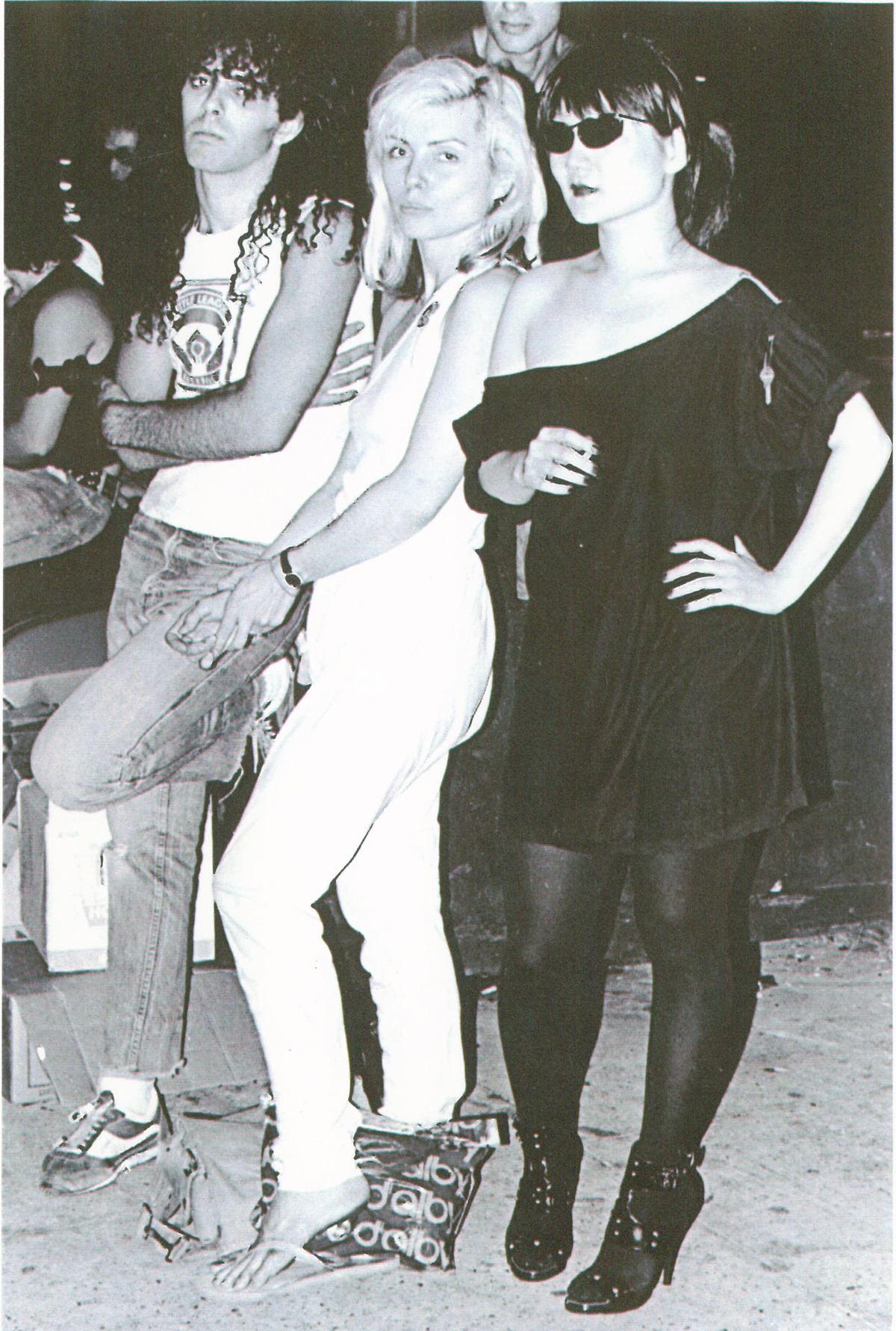 superseventies:  Debbie Harry, Anya Phillips and Paul Zone outside CBGBs, summer 1977.