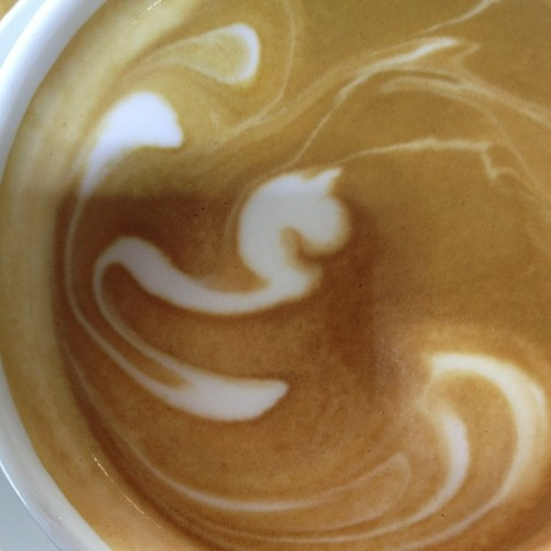 Lady Rainicorn latte or a unicorns snake. You pick #coffeeart #accidentallyawesome @zazme