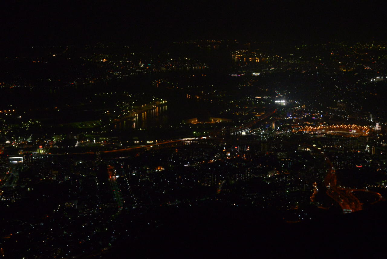 August 2014. Night view from Mt. Sarakurayama. Kitakyushu, Fukuoka, Japan.
