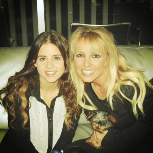 Britney, Carly, & Hannah - From Carly's twitter Thank you @britneyspears for being such an amazing mentor and friend!