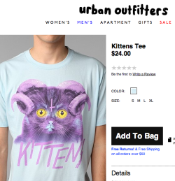 "satxtan:  satxtan:  Urban Outfitters ripped us off :3 Cross posting from FB, We've gotten quite a few tips over the last couple of years of people ripping us off. In some cases it's been enough of a divide that I didn't really consider it a rip off, and in other cases it's been someone trying to print low res JPGs of my work on cafepress or skreened (good luck to you?) In this case this just - well - bullshit. If it were just me I wouldn't make that big of a deal about it, but Urabn is notorious for ripping off artists for their tees. Don't stand for that shit and don't but tees from Urban Outfitters. I've heard many accounts of artists being approached to sell their work to Urban and when the artist turns them down - they just steal their work. In my case I wasn't even given the option to sell my soul, they just went straight for thievery because what the fuck am I going to do, right?  Wow, my typos. Why didn't anyone tell me D: The big dogs at UO are going to be like ""Hah this guy can't even SPELL we've got this in the bag!"""