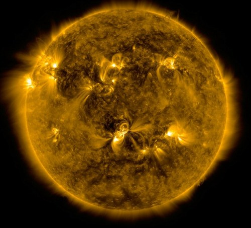 An image of the sun taken by Nasa's orbiting Solar Dynamics Observatory - but scientists still don't understand why the sun's corona is so hot. Read more